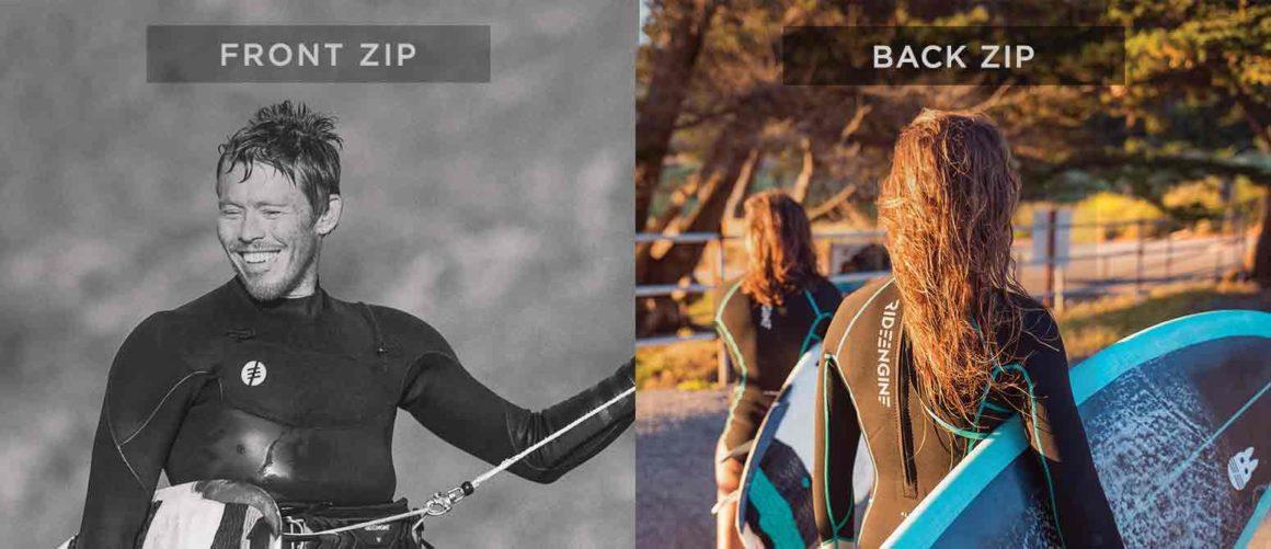 Wetsuit front zip vs back zip